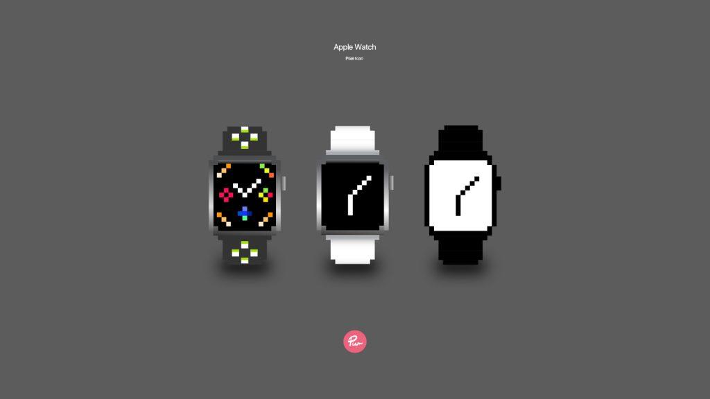 Apple Watch pixel icon cutom design